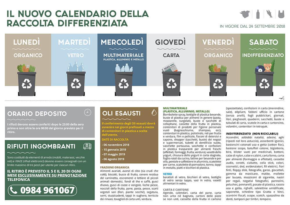 Raccolta Differenziata Cosenza Calendario 2019.Rogliano Presila Cosentina Spa